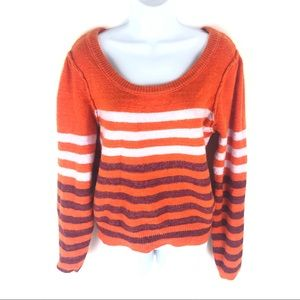 Free People Women's Orange Sweater S